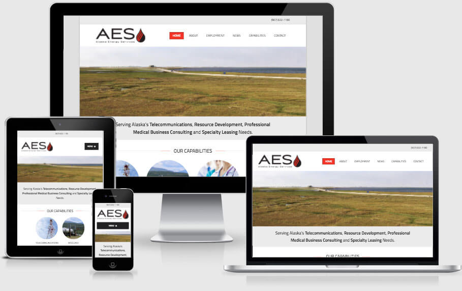 AK Energy Services site on multiple devices