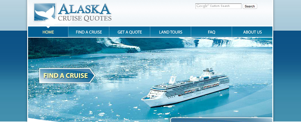 Alaska Cruise Quotes website image