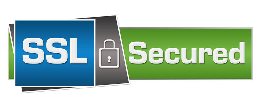 Lock with text SSL Secured